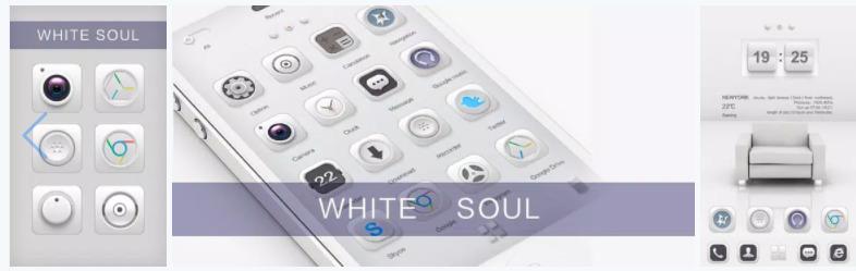 White Go Launcher Theme APK